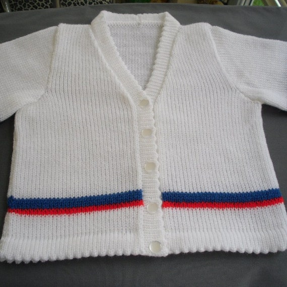 Baby sweater. girls cardigan, toddler, short sleeve, summer, patriotic, holiday, red white blue