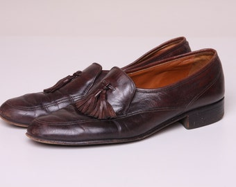 Vintage Mens Dress Shoes 70s Bally of Switzerland Loafers Size 8.5