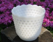 Large Milk Glass Hobnail Planter by Fire King