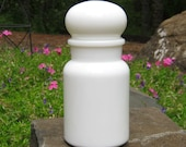 Large Milk Glass Canister - Apothecary Jar - Made in Belgium - Oak Hill Vintage