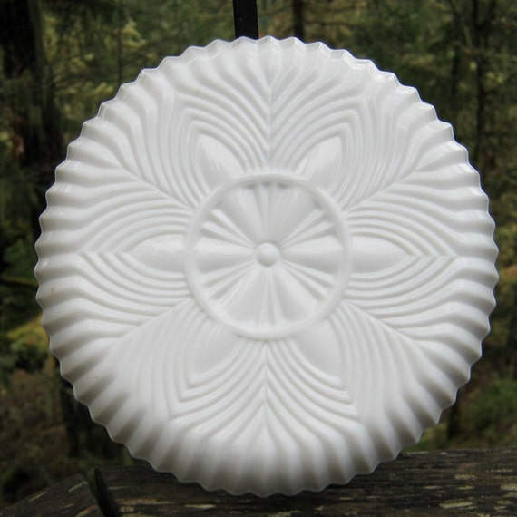 RESERVED for VALERIE - 50% off SALE - Milk Glass Divided Dish with Removable Metal Caddy