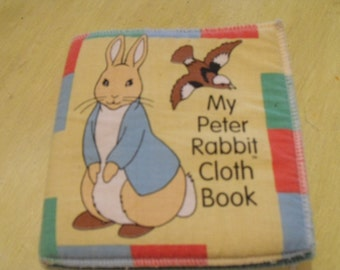 Rabbit Book/Peter Rabbit Book/Vintage Cloth Bunny Book/Child's Book/Retro Bunny Rabbit Book/1994 Book