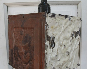 Shabby Chic Tin Ceiling Tiles Lamp