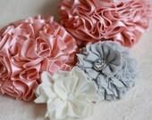 Fabric Flower Tutorial, Fabric Flower PDF Pattern, Sewing Pattern, PDF Pattern & Tutorial, How to Make Fabric Flowers