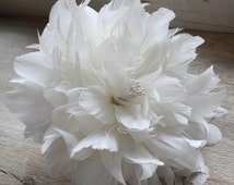 Feather Flower Tutorial, PEONY, How to Make Feather Flowers, DIY headband, photo prop, Bridal Hair Flowers, Wedding Bouquet, DIY Home Decor