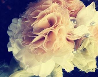 Fabric Flower Bouquet - Fabric Flower tutorial - Carnation