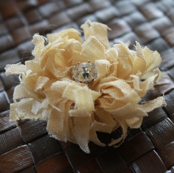 DIY No1- PDF TUTORIAL - Make Your Own Fabric Flowers - Chrysanthemum - EASY - NO SEWING REQUIRED - - Materials Not Included