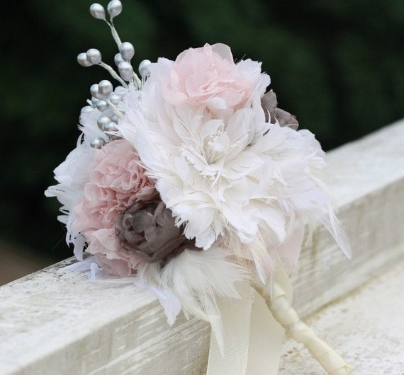 Diy Feather Bouquets Weddings: Wedding Bouquet Tutorial Wedding Bouquet Feather Flower