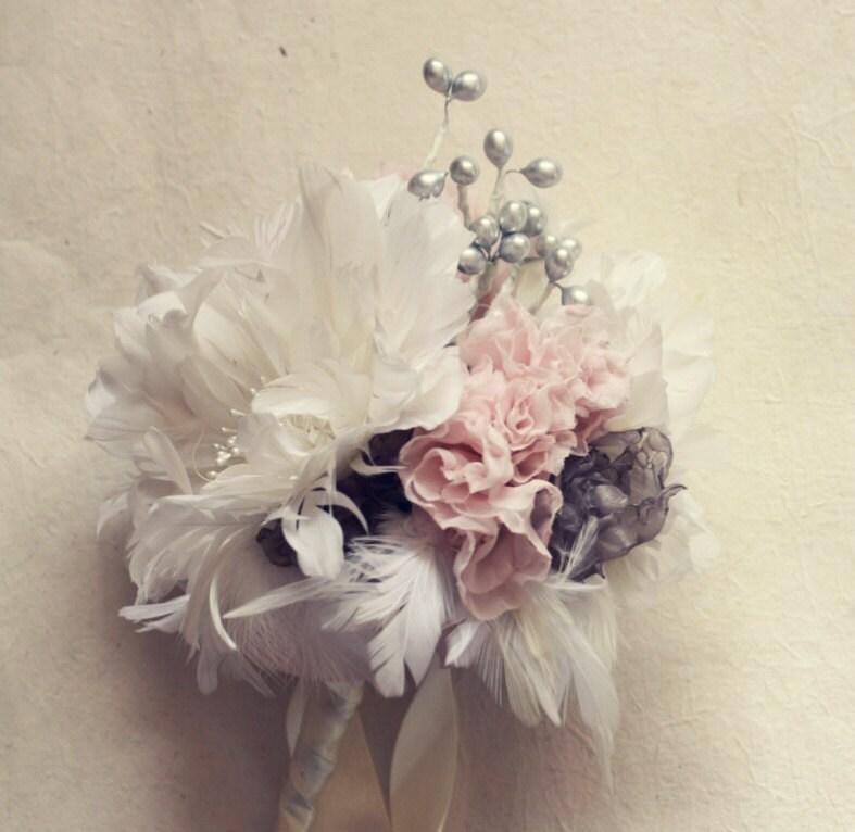 Fabric Flower Wedding Bouquet Tutorial: Fabric Bouquet Tutorial Fabric Flower Bouquet Feather Flower