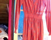 RESERVED vintage blossom autumn dress