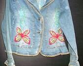 butterfly jean jacket