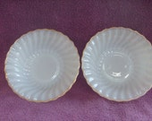 Golden Shell Anchor Hocking Cereal Bowls Pair
