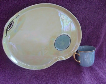Snack Set Vintage Czech Plate and Cup