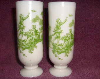 Avon Demi Cups Pair Milk Glass