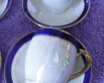 Demitasse Cups and Saucers by Noritake Set of Six