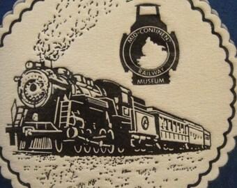 Train Railway Coasters Round Paper Set of Four