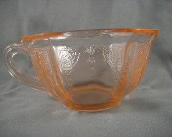Pink Depression Glass Princess Pattern Cup