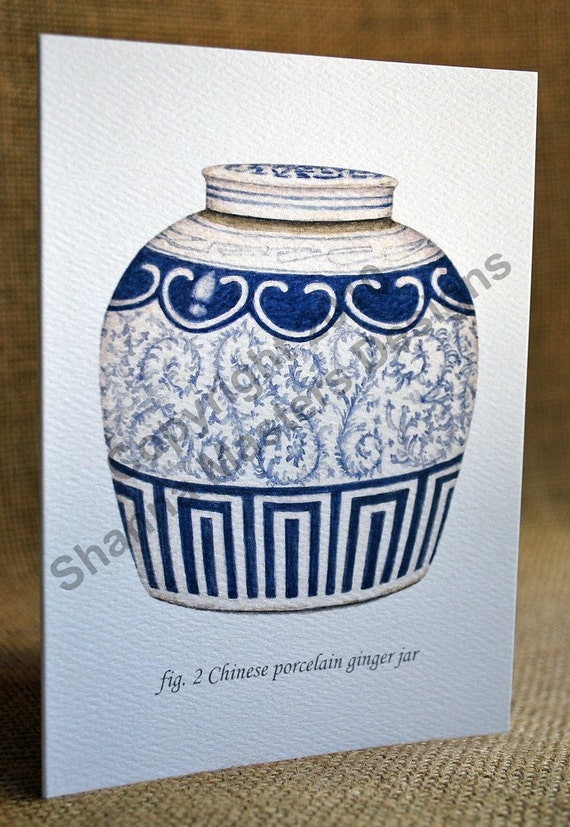 Blue and White Porcelain Note Card Set