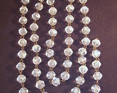Czech. Beaded Chain English Cut Crystal........  30 Feets . ( 10 yards)