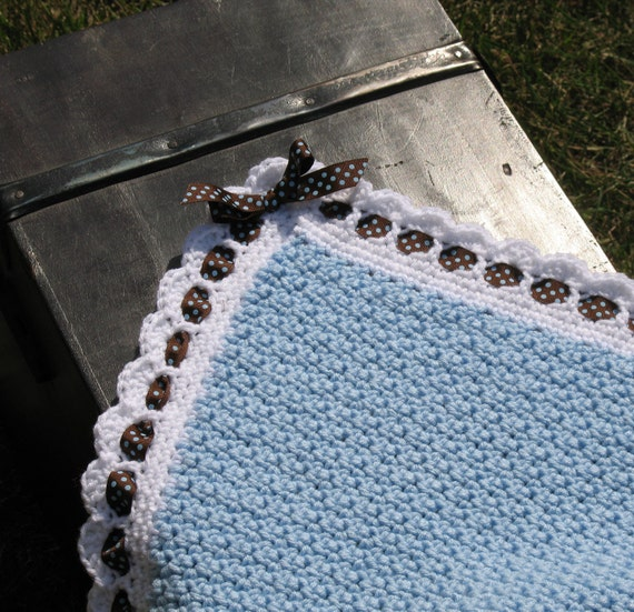 Handmade Heirloom Crocheted Baby Blanket - Choose Your Own Colors - Perfect for Baby Showers, Birthday Gifts, Receiving Blanket...