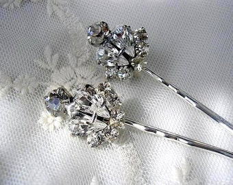 Wedding Hair Jewelry - Bridal Hair pins - Bridal Hair piece, wedding hair ACCESSORIES, Swarovski Rhinestones, set of 2