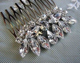 Wedding hair accessories Bridal hair comb  royal vintage style sparkle Rhinestones swarovski ,