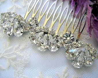 bridal jewelry, bridal hair accessories ,Wedding hair comb , Bridal hair comb, Vintage Inspired, sparkle, Rhinestones swarovski