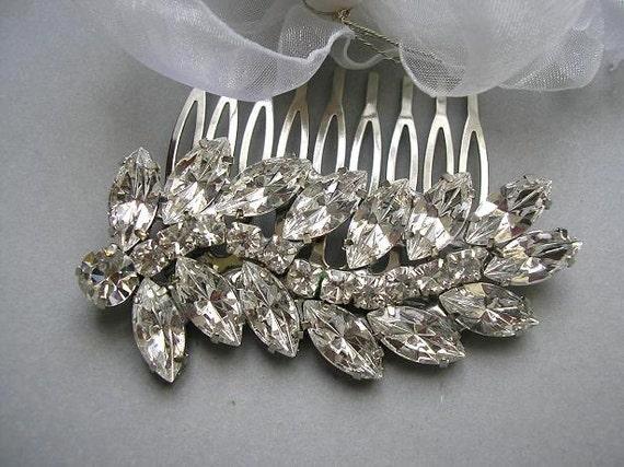 Vintage style  BRIDAL hair comb, bridal hair accessories, wedding HAIR ACCESSORIES , sparkle Rhinestones, wedding jewelry,