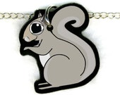 Squirrel Necklace  --  Free Shipping - goatsnglory
