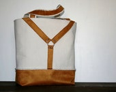 Sailing Canvas and Caramel Suede Harness DayTote Equestrian inspired