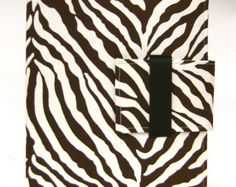 iPad Case - IPad and iPad Mini folding cover or stand in Modern chocolate zebra