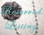 Reserved Listing for Amanda Scott