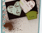 "Geeky Chemistry Greeting Card, Wedding Card, Anniversary Card, Valentine's Card 5.5""x4.25"""