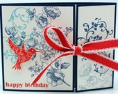 "Happy Hummingbird Birthday Card 5.5""x4.25"""