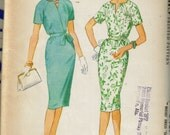MAD MEN style vtg 1960 McCalls 5437 Misses Raglan Dress sz14 B34 UC