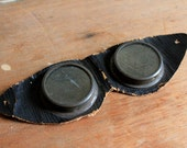 Antique Black Leather Goggles