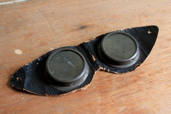 Antique Black Leather Goggles