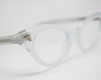 White cat eye glasses  vintage cateye eyeglasses frames