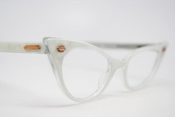 cat eye glasses white vintage cateye eyeglasses