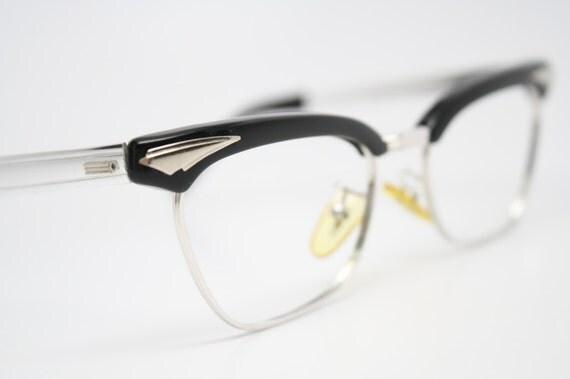 cat eye glasses vintage browline cateye frames NOS