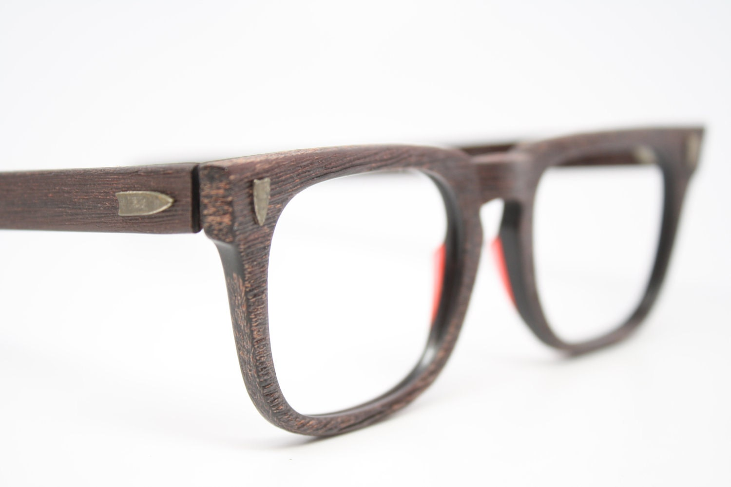 Men s Eyeglass Frames : NOS beautiful Redwood vintage mens eyeglasses Arnel