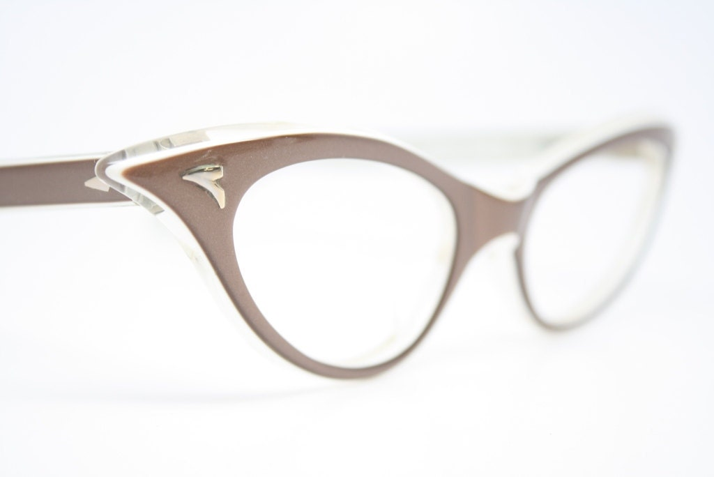 Vintage Eyeglass Frames Cat Eye : mink cat eye glasses vintage cateye by VintageOpticalShop ...