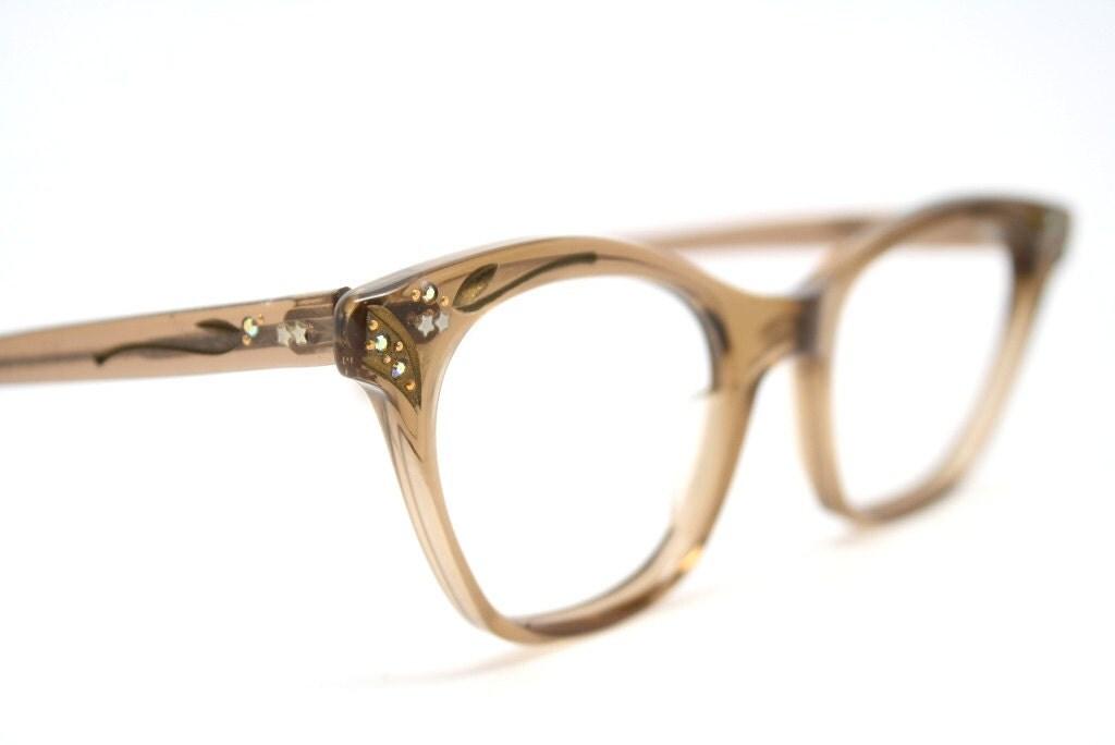 cat eye glasses vintage rhinestone cateye frames eyeglasses