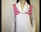 Striped Cowl Neck top FREE SHIPPING