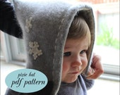 PDF Pattern - Snuggly Pixie Style Baby Hat
