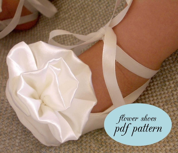 PDF Pattern - Satin Flower Baby Shoes