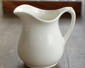 "Vintage White Ironstone Pitcher - Medium 6"" Size"