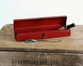 Skinny Red Metal Tool Box - FrogGoesToMarket