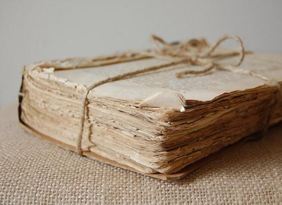 Antique Coverless Book