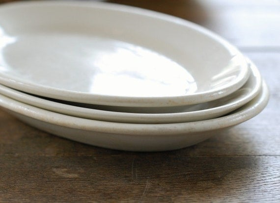 Collection of 3 White Ironstone Platters